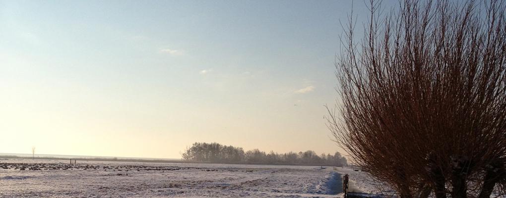 Ook in de winter is de omgeving prachtig :-)
